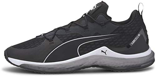 PUMA Men's LQDCELL Hydra Sneaker, Black White, 13 M US