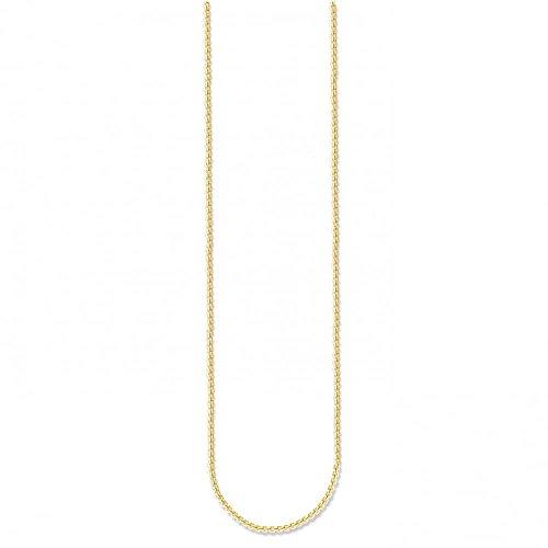 THOMAS SABO Damen-Kette ohne Anhänger 925 Silber teilvergoldet 50 cm - KE1106-413-12-L50v