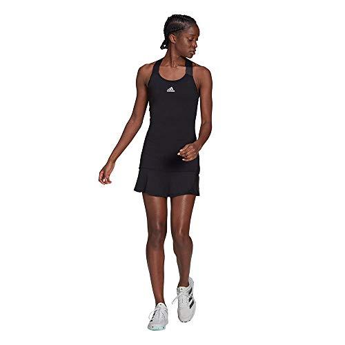 adidas Y-Dress Vestito da Donna, Donna, Vestito, GH7551, Nero/Bianco, L