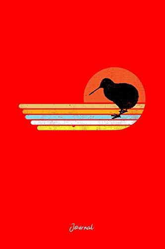 Journal: Dot Grid Journal - Retro Sunset Stripes Easy Kiwi Vintage Halloween Gift - Red Dotted Diary, Planner, Gratitude, Writing, Travel, Goal, Bullet Notebook