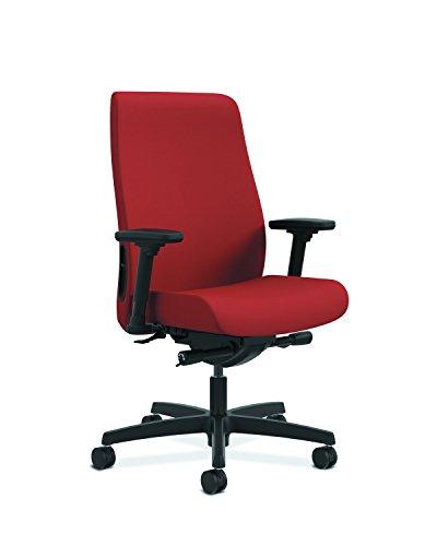 HON Endorse Mid-Back Task Chair- Upholstered Computer Chair for Office Desk, Poppy (HLWU)
