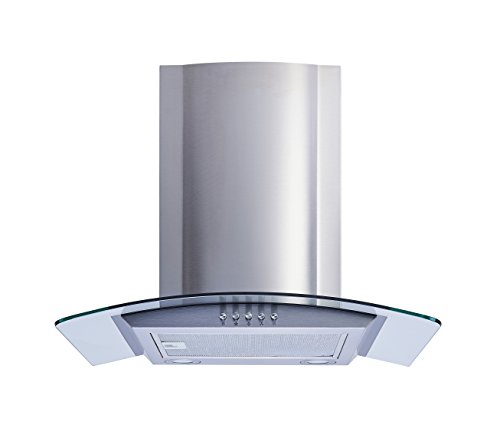 Winflo 30 In. Convertible Stainless Steel/Glass Wall Mount Range Hood