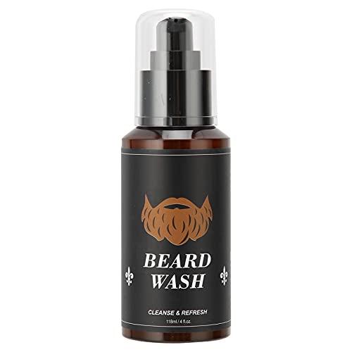 Champú para lavado de barba para hombres de 118 ml, champú para lavado de barba para hombres, champú hidratante para limpieza y suavizante para el cuidado de la barba