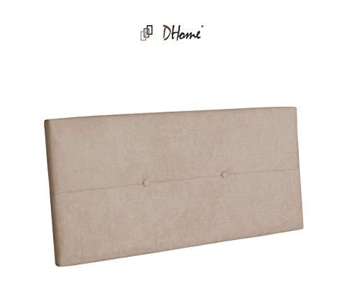 DHOME Cabecero de Polipiel o Tela AQUALINE Pro cabeceros Cabezal tapizado Cama Tela Beige, 110cm (Camas 80/90/105)
