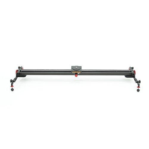 Konova Camera Slider Dolly K5 100 (39.4 Inch) Track Aluminum Solid Rail Roller Bearing for Smooth Slide for Camera, Gopro, Mobile Phone, DSLR, Payloads up to 55bs (25kg) with Bag