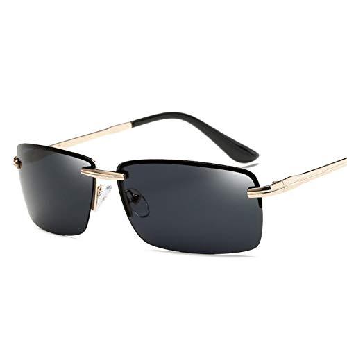 YIERJIU Gafas de Sol Gafas de Sol de Gama Alta para Hombres Gafas de Sol de conducción Gafas de Sol clásicas de Perfil bajo para Hombres Ocul Exteriores,A