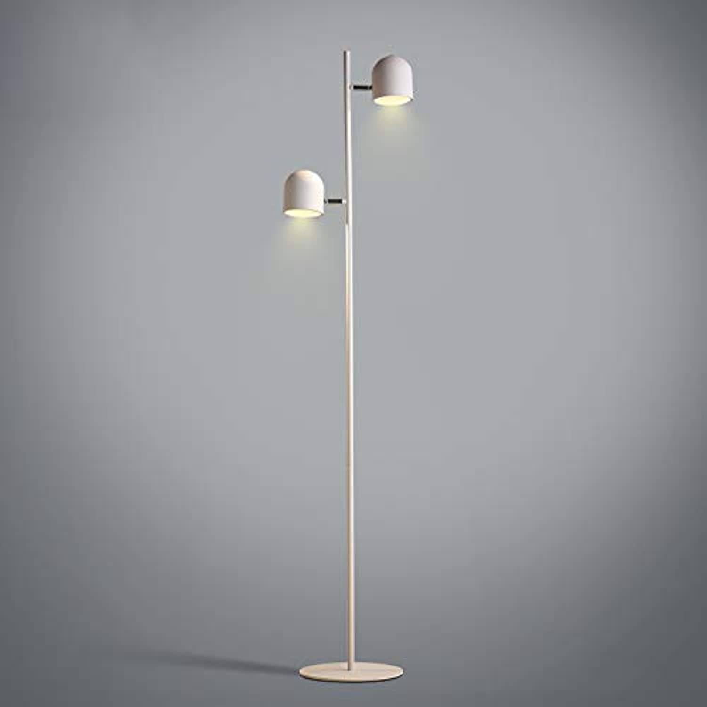 Stehleuchte aus Metall Modern Lampadaire Double éclairage