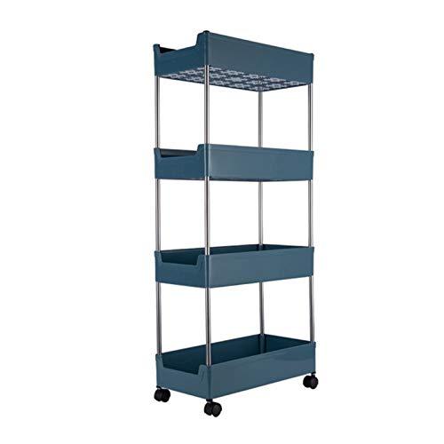 MLX Carro de almacenamiento para cocina, nevera, estante de almacenamiento lateral para cuarto de baño, hueco ultra estrecho QGLDD