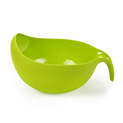 SELUXU Diseño colador tamiz arroz lavado tazón arroz arandela tamiz verdura fruta pasta escurridor