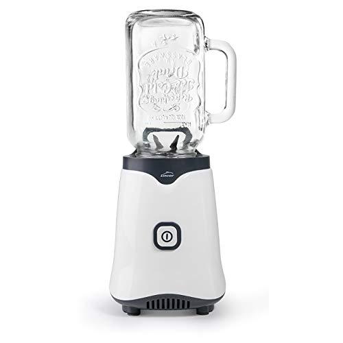 Lacor 69386 - Batidora personal MIX & GO con jarra de cristal de 500 ml, Libre de BPA, 350 W