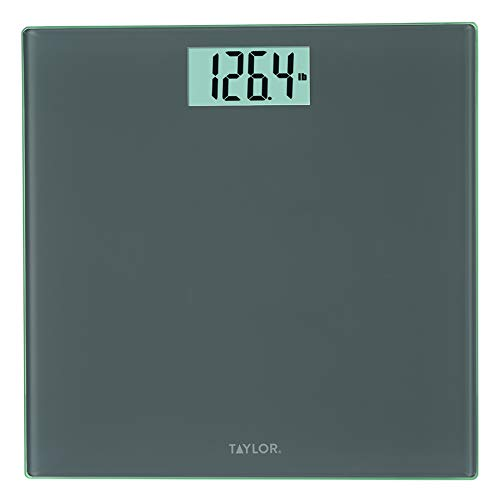 Taylor Precision Products Glass Digital Bath Scale (Charcoal)