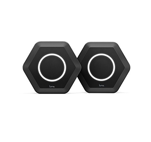 Luma Whole Home WiFi (2 Pack - Black) -  Replaces WiFi Extenders and Routers, Compatible with Alexa, Free Virus Blocking, Free Parental Controls, Gigabit Speed
