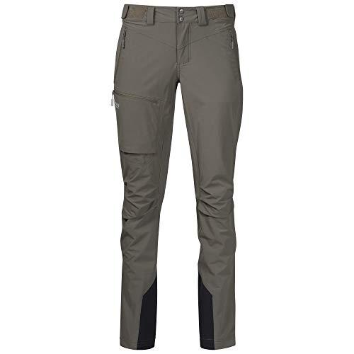Bergans Breheimen Pantalon Softshell Femme, Green mud/Aluminium Modèle XS 2021