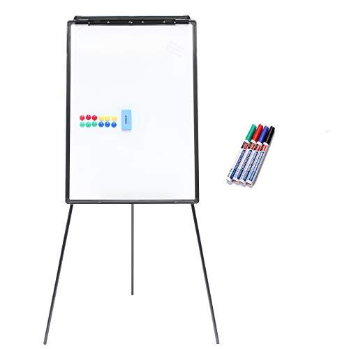 Yorbay 2-in-1 Flipchart und Whiteboard in 70 x 100 cm mit Dreibein Ständer (Upgrad Version) (Mehrweg)