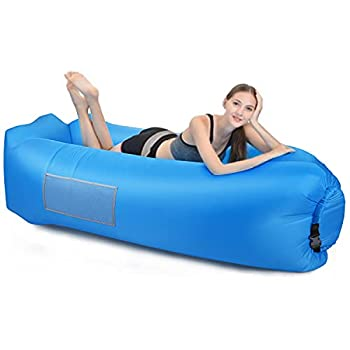Canapé Gonflable Portable et Imperméable, Sac de Rangement Intégré, Coussin Gonflable Extérieur, Pliable, Résistant à l'usure - Camping, Plage