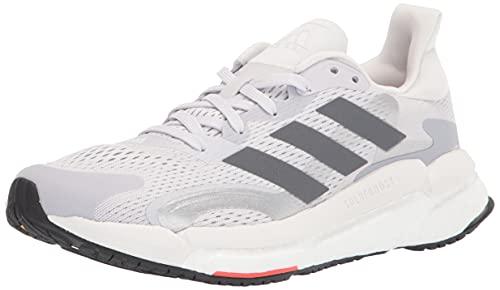 adidas Women's Boost 3 Running Shoe, Dash Grey/Grey/Solar Red, 9.5