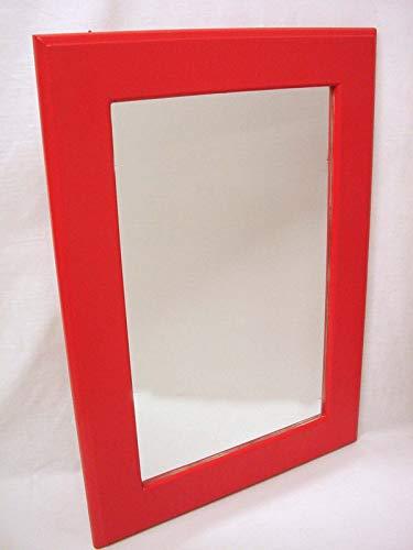 Espejo Pared Vertical Pared Liso Madera Rojo
