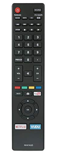 New NH414UD Replaced Remote fit for SANYO TV FW50C85T FW50C87F FW55C46F FW55C46FB FW55C46F-B FW55C87F FS32C06F FW43C46FB FW43C46F-B FW50C36F FW50C36FB FW50C36F-B FW50C76F