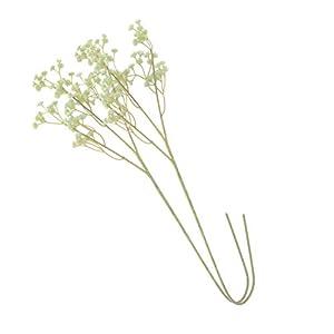 Silk Flower Arrangements BESPORTBLE 2pcs Artificial Gypsophila Flower PU Trident Baby Breath Bouquets Real Touch Floral Pick Stem for DIY Flower Arrangement Wedding Home Decor Vase Filler Sky-Blue