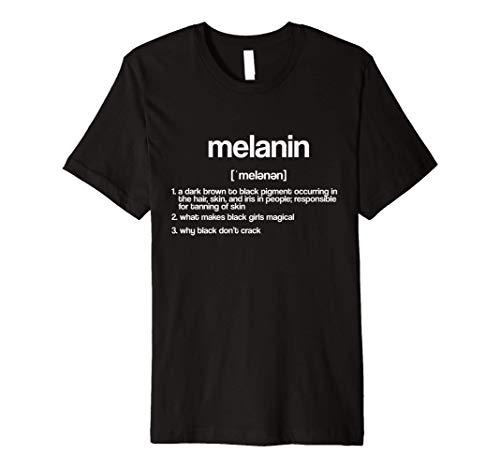 Melanin Definition Noun Black Pride Nappy Kinky Hair Premium T-Shirt