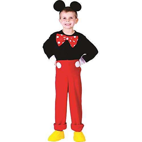 Dress Up America 757-T4 - Costume per travestimento da Topolino, Bambino, 3-4 anni