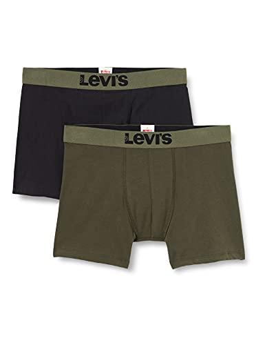 Levi's Solid Basic Men's Boxers Boxer, Cachi, M Uomo