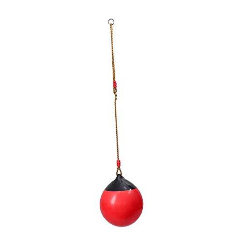 SSXPNJALQ Asiento De Swing Al Aire Libre con Cuerda De Trabajo Pesado para Juguetes De Juegos para Niños (Color : Red)