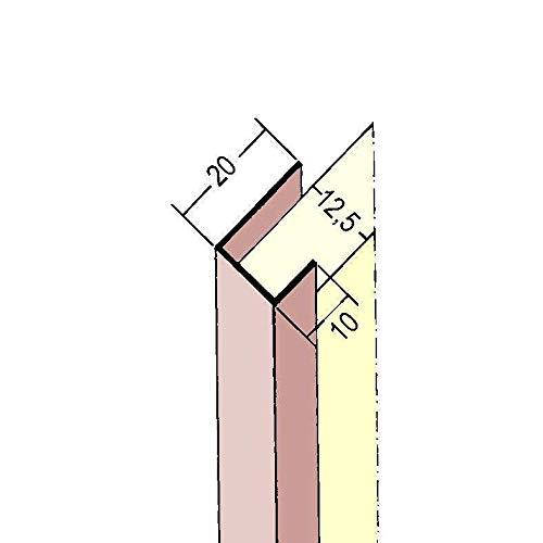 PROTEKTOR 3741, PVC Einfassprofil, Plattenstärke 12,5 mm für Gipskarton, 250cm, 50 Stück