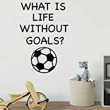 Vivityobert - Vinilo decorativo para pared infantil con texto 'What is Life Without Goals', decoración de salón de clases para niños o niñas, dormitorio, sala de juegos o guarderías, decoración de salón de clases