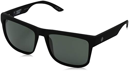 Spy Optic Discord Sunglasses, Soft Matte Black/Happy Gray/Green, 57 mm