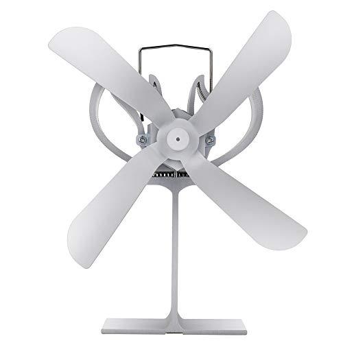 XIAOKUKU Ruhig Eigenantrieb Kamin Fan, 4-Blatt Log Burner Fan Gleichmäßig verteilt die Raumtemperatur, Thermodynamischen Beständigkeit gegen hohe Temperaturen, der Kamin Wärmeverteilung Gebraucht