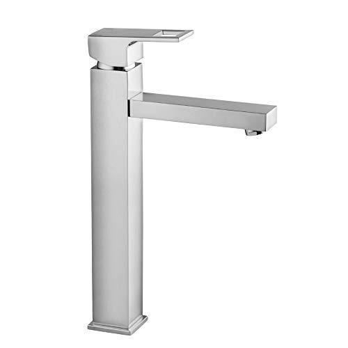Hoogwaardige Anemon wastafelkraan met 1 gat met verhoogde voet wastafelarmatuur designer waterkraan, wandbatterij, armaturen badkamer, badkamer, eengreepsmengkraan