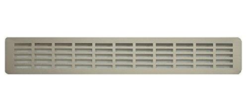 Griglia d'aria in alluminio per cucina, in alluminio anodizzato, griglia di ventilazione per zoccol