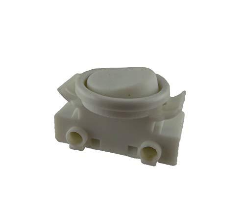 Interruptor basculante empotrable para lámpara, 2 A, 250 V, color gris, adecuado como interruptor de repuesto para las lámparas de cocina Ikea (blanco)
