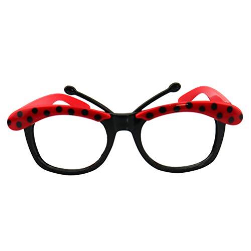Amosfun 3 stücke Lustige Brille Party Sonnenbrille mit Marienkäfer Kostüm Sonnenbrille Neuheit Eyewear für Lustige Thema Party Favors Supplies