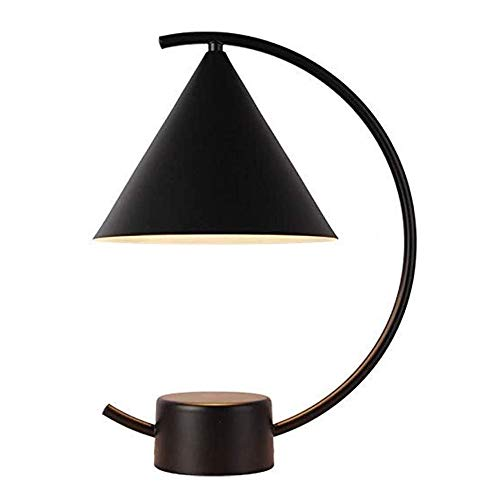 JIANGPENG Nordic tafellamp slaapkamer bedlampje zwart spray wandlamp metaal decoratieve tafellamp huis glas tafellamp