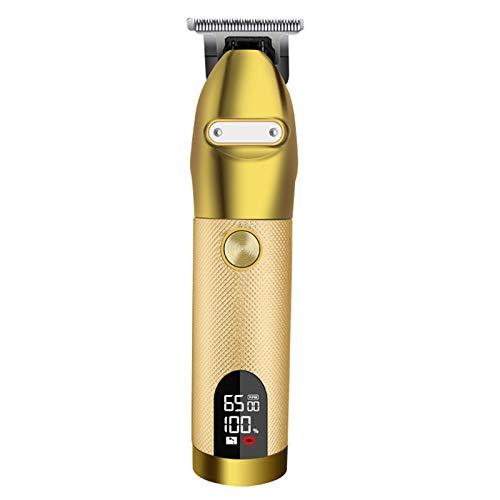 Recortadora de cabello, afeitadora portátil Pro Gold Skeleton, carcasa de metal con...