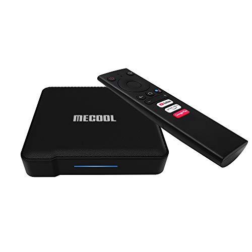 MECOOL KM1 4K certificado por Google Real ATV TV Box 4G RAM 64G ROM Chromecast integrado con control remoto de voz última versión