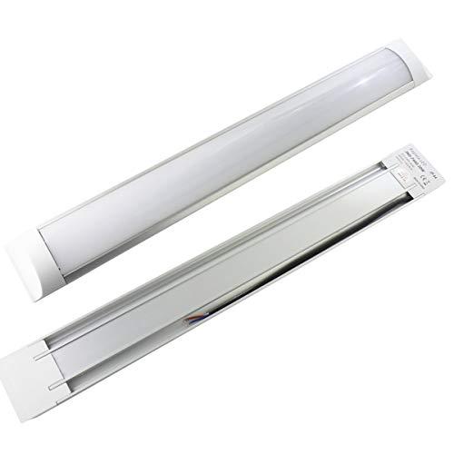 JANDEI - 2 x Regleta LED 36W 4200K/6000K para Zonas de Trabajo, Exteriores, Zonas industriales, Puestos de Trabajo (6000K)