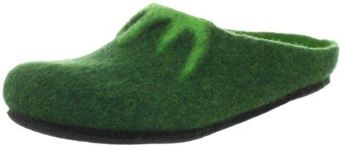 MagicFelt Filzpantoffeln AL 718 17718 aus Reiner Wolle - Unisex-Erwachsene - anatomisch geformt - in Grün (Dark Green 4818), EU 36