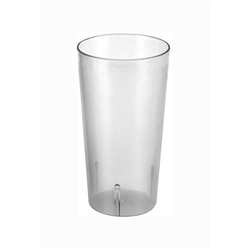 Plastic Tumblers, Shatter Proof Cups, For Restaurant, Lunchroom, Cafeteria, Bar - Pack of 12 (24 oz, Clear)
