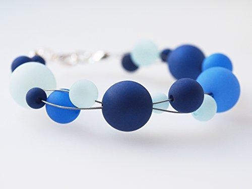 Polarisarmband hellblau blau dunkelblau Armband