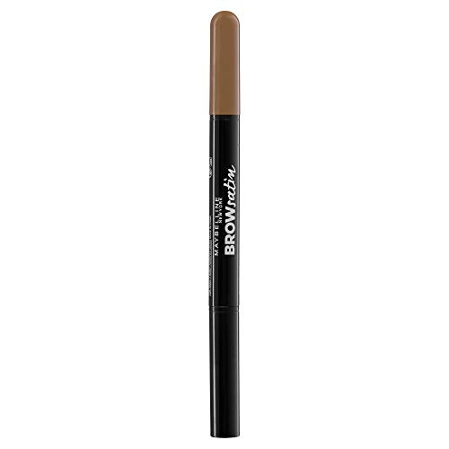 Maybelline New York - Brow Satin, Lápiz de cejas, Tono 02 Medium Brown