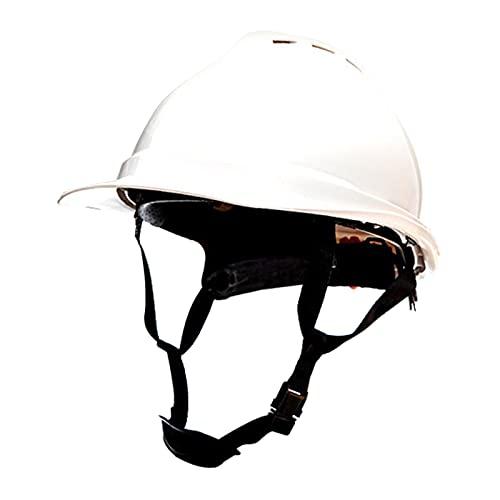 perfeclan Casco de seguridad, casco ajustable, protección para la cabeza, casco de seguridad para constructor de ingenieros de escalada - blanco