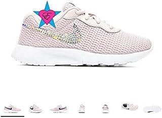 e279b7d015 Rhinestone Crystal Bedazzled Pinkish Purple Little Girls' Nike Tanjun Print  10.5-3 Running