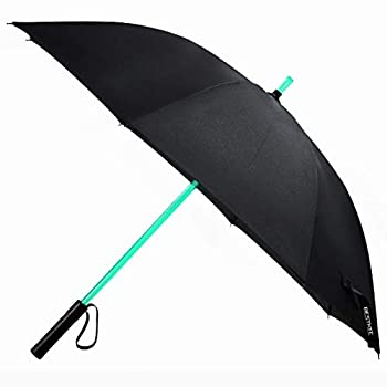 LED Umbrella - Lightsaber Laser Sword Light up Umbrella with 7 Color Changing On the Shaft/Built in Torch at Bottom by Bestkee  Black