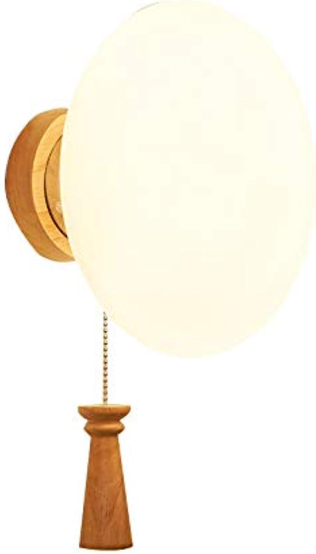 Dekoration- Klotz-Wand-kreatives hlzernes Nachttisch-Wand-Lampen-Wohnzimmer-Schlafzimmer LED dekorative Lichter