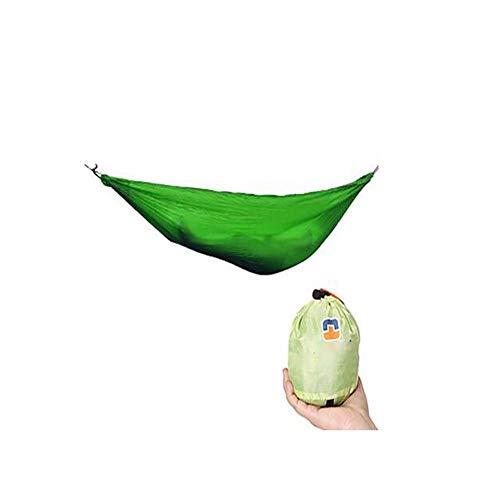 SHARESUN Outdoor camping dubbele hangmat, nylon comfortabele en ademende ultralichte draagbare hangmat, vrije tijd lounge stoel, wild schommel bed, laadvermogen 200kg, rugzak reizen, strand, 245 * 140cm