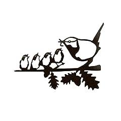 Crazyfly Vogelfutter-Silhouetten-Anhänger, Metall, stehend, Skulpturen