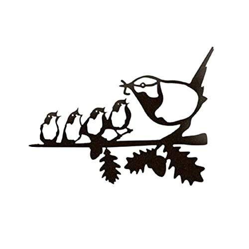 Crazyfly Crazyfly Vogelfutter-Silhouetten-Anhänger, Metall, stehend, Skulpturen Bild